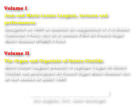 Volume I